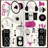Loud Doodles in sketchbook,