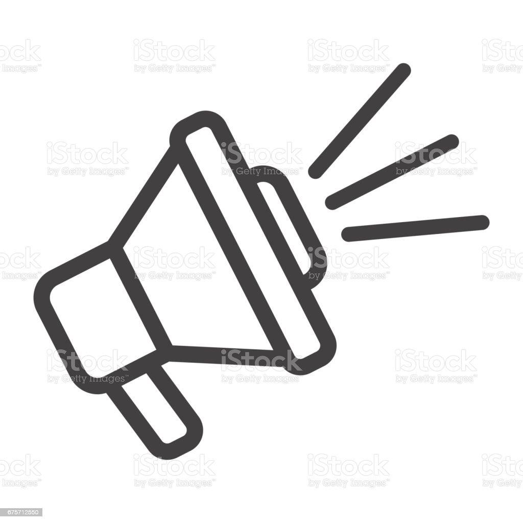 揚聲器線圖示、 擴音器和網站按鈕,角向量圖形,在白色的背景下,eps 10 的線性模式。 免版稅 揚聲器線圖示 擴音器和網站按鈕角向量圖形在白色的背景下eps 10 的線性模式 向量插圖及更多 器材 圖片