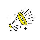 istock Loudspeaker line icon 1170312952