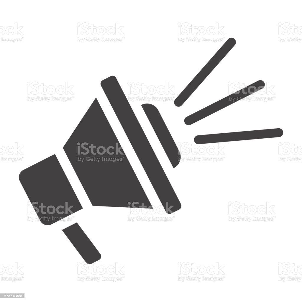 揚聲器固體圖示、 擴音器和網站按鈕,角向量圖形,在白色的背景下,eps 10 的填充的模式。 免版稅 揚聲器固體圖示 擴音器和網站按鈕角向量圖形在白色的背景下eps 10 的填充的模式 向量插圖及更多 器材 圖片