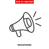 istock Loudspeaker vector icon for announce in public media. V2 1263159766