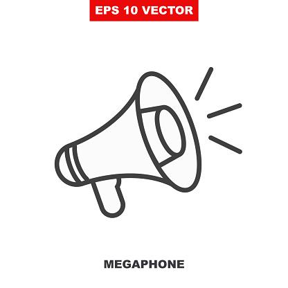 Loudspeaker vector icon for announce in public media. V2
