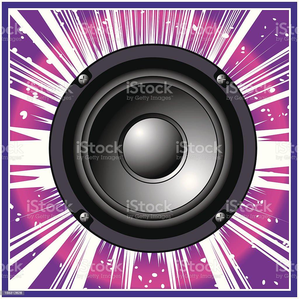 Loudspeaker royalty-free stock vector art