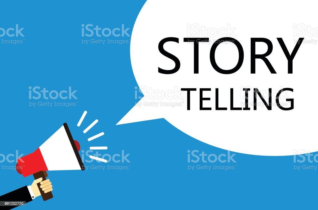 Loudspeaker With Story Telling Speech Bubble vector art illustration