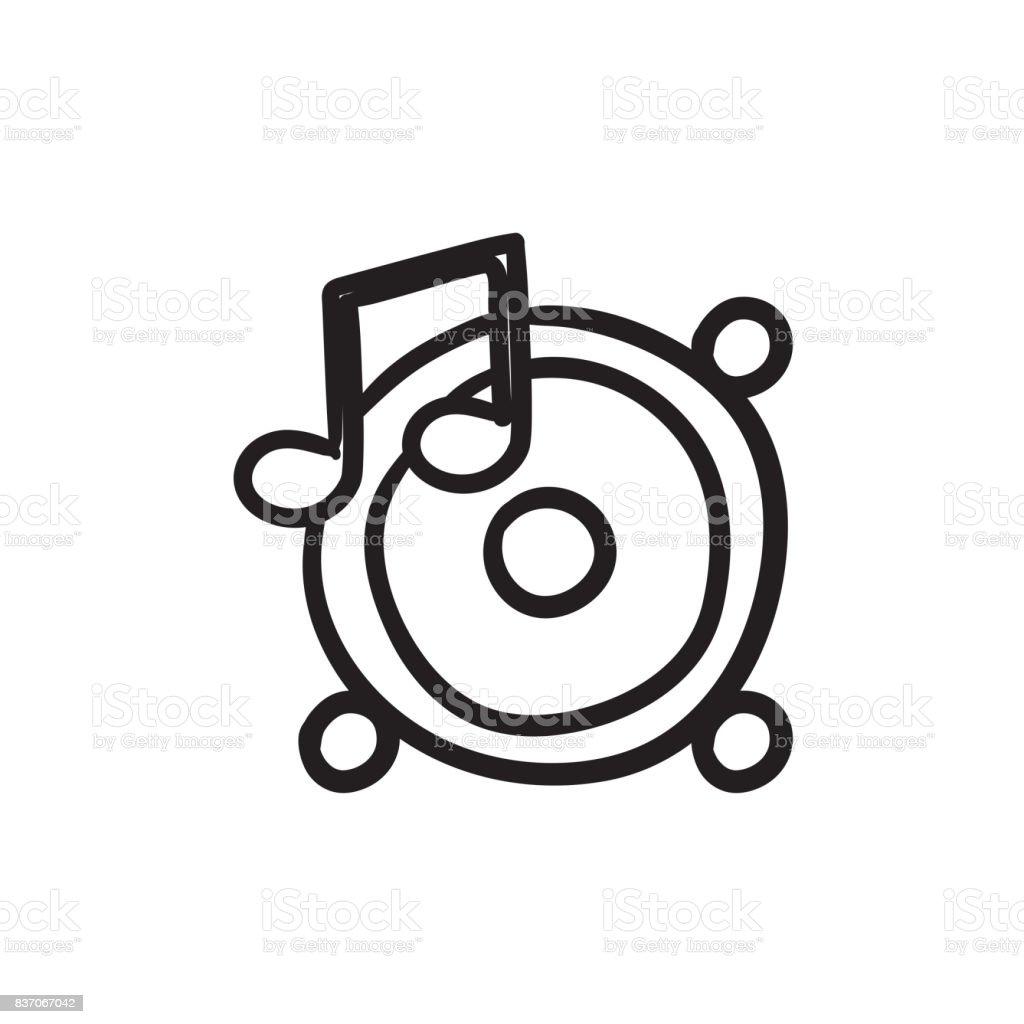 Hautparleurs Avec Note De Musique Dessin Icone Vecteurs Libres De