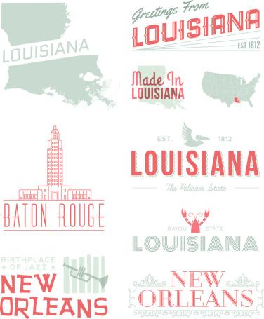 Louisana Typography
