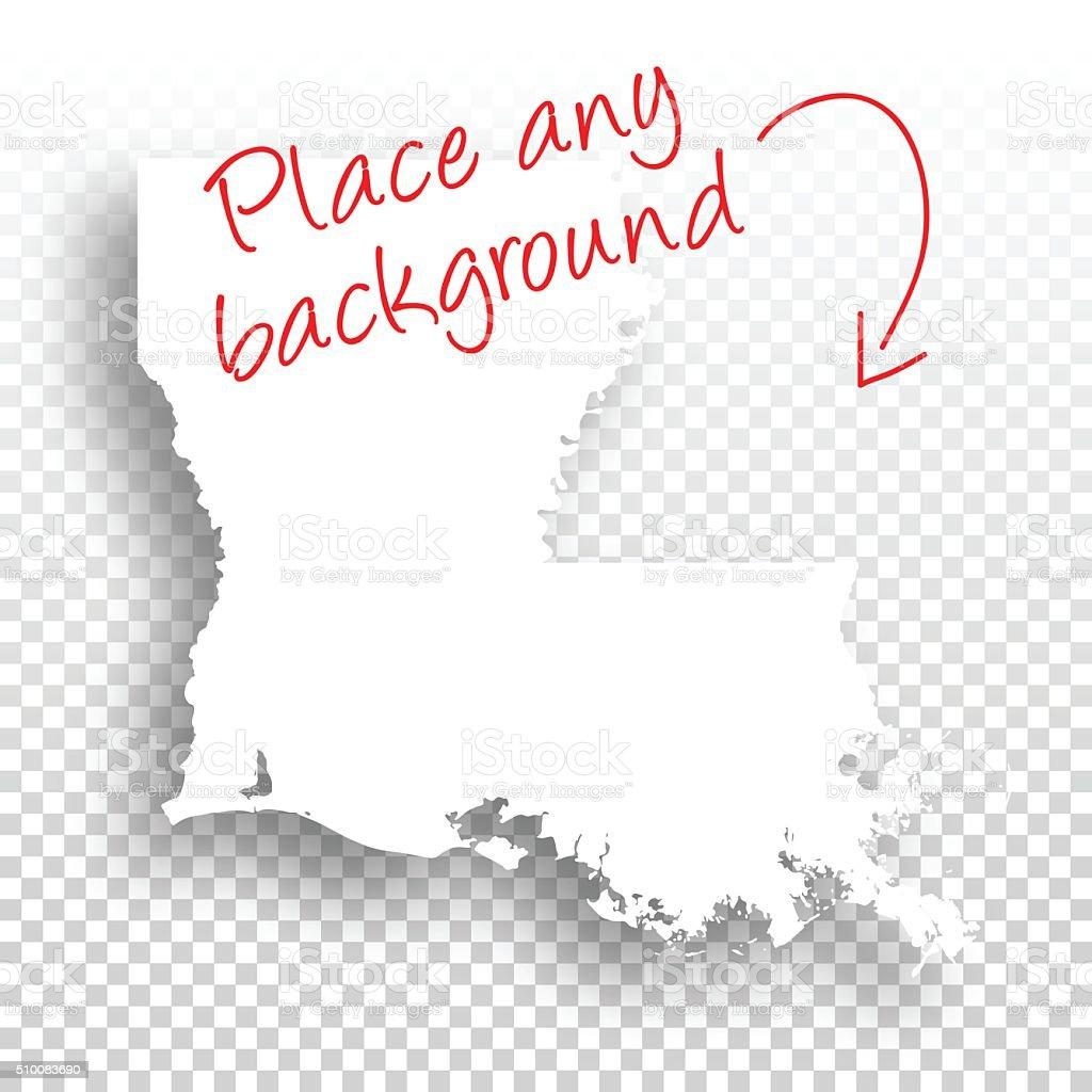 Louisiana Map for design - Blank Background vector art illustration