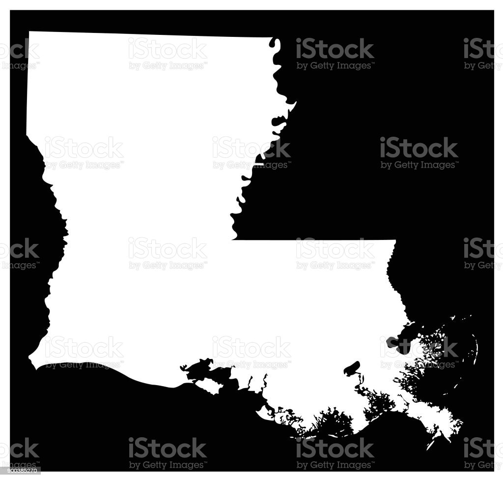 Louisiana map vector art illustration