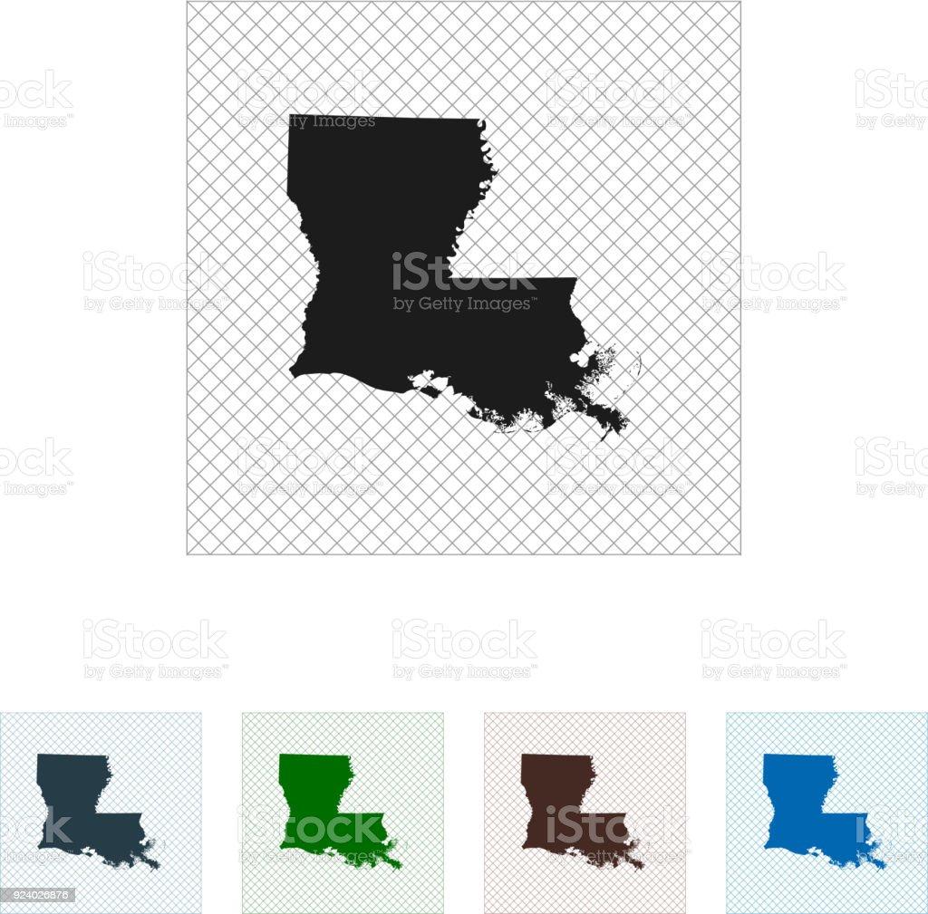 Louisiana Map Alexandria%0A Louisiana Map America Louisiana map royaltyfree stock vector art