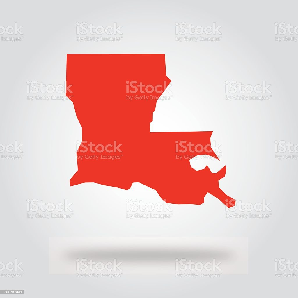Louisiana Red State Icon vector art illustration