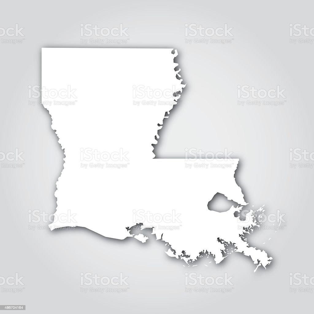 Louisiana Silhouette White vector art illustration