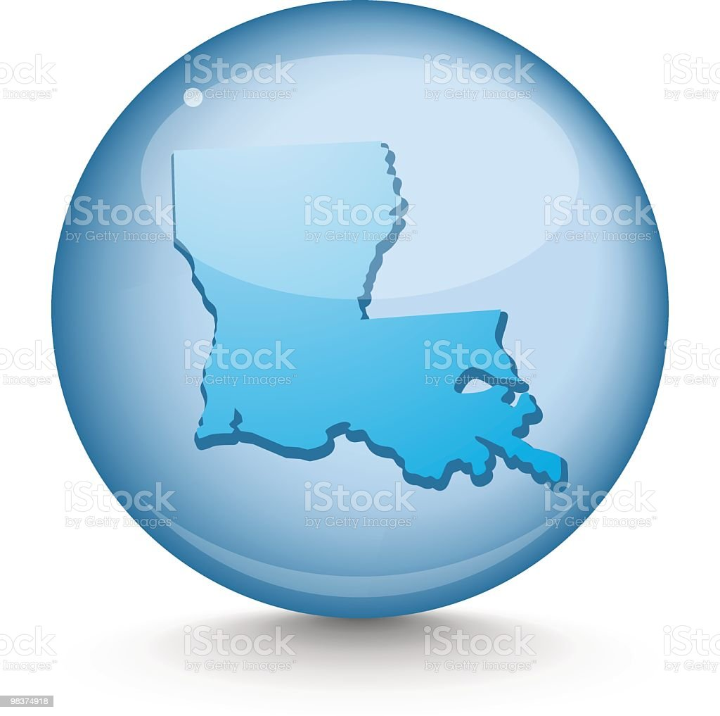 Louisiana - Sphere State Series royalty-free louisiana sphere state series stock vector art & more images of blue