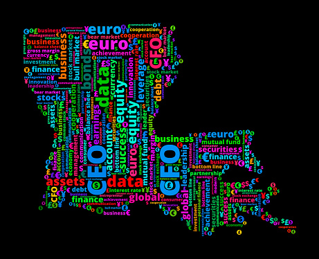 Louisiana State on Business and Finance Word Cloud