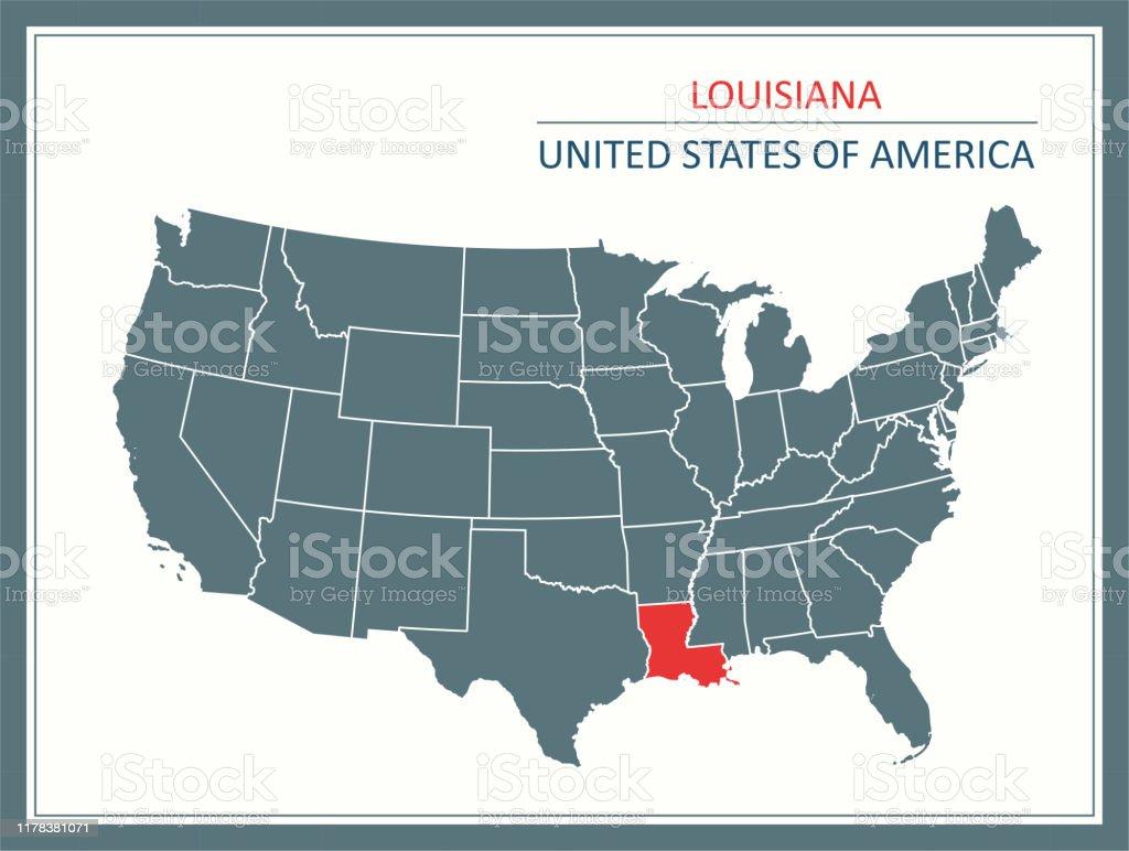 Louisiana Usa Map Downloadable Stock Illustration - Download ...