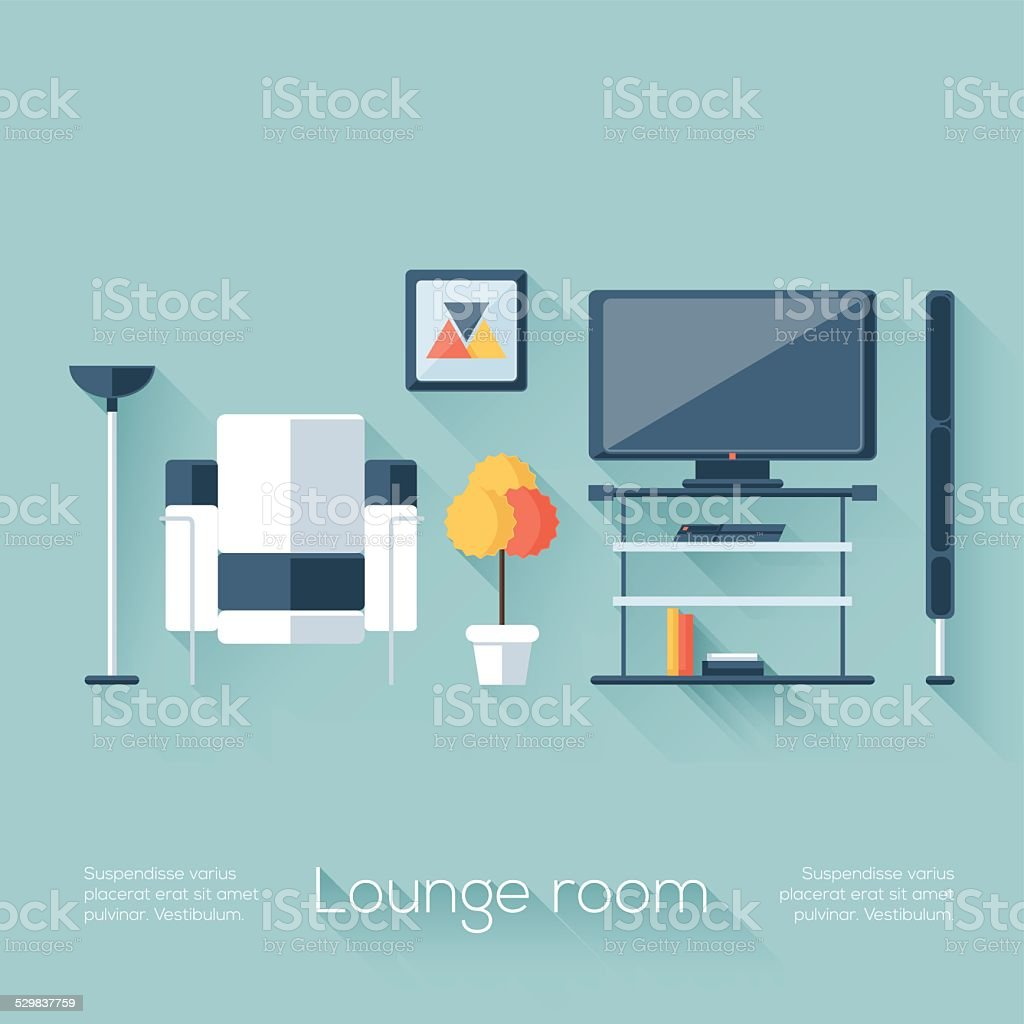 Lounge or Sitting Room Cover vector art illustration