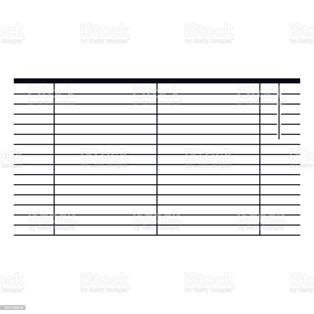 Lamellensymbol Stock Vektor Art Und Mehr Bilder Von Buro 952759548
