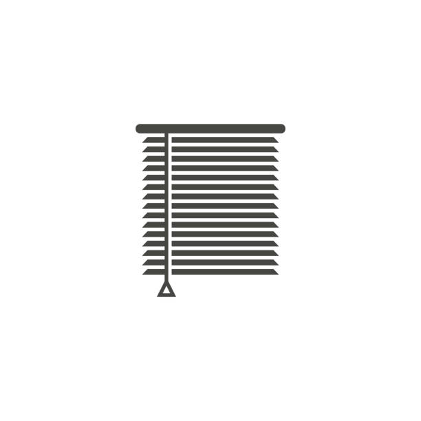 louvers sign icon. window blinds or jalousie symbol - store stock illustrations