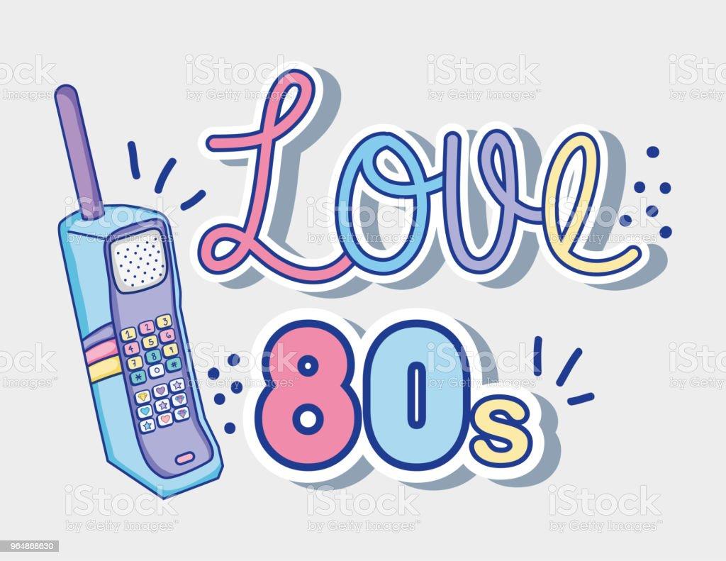 我喜歡80s 卡通片 - 免版稅1980圖庫向量圖形