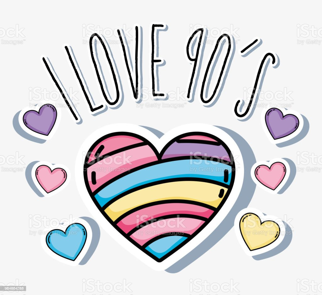 I love 90s cartoons royalty-free i love 90s cartoons stock vector art & more images of 90 plus years