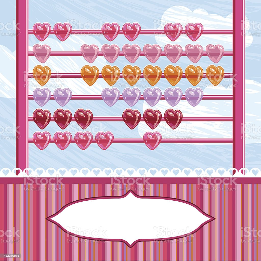 love abacus royalty-free stock vector art