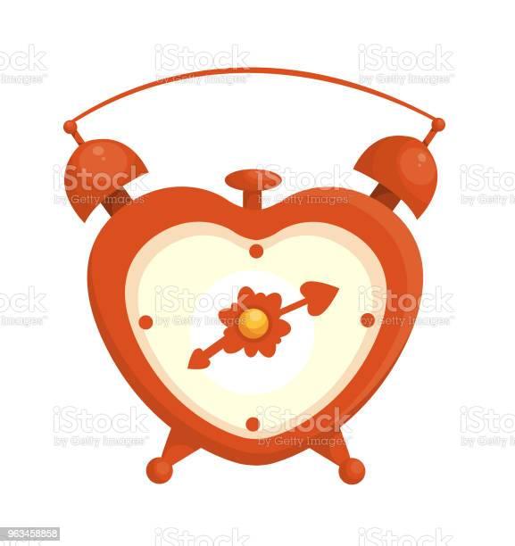 Ilustración de Love Reloj Despertador y más Vectores Libres de Derechos de Alarma