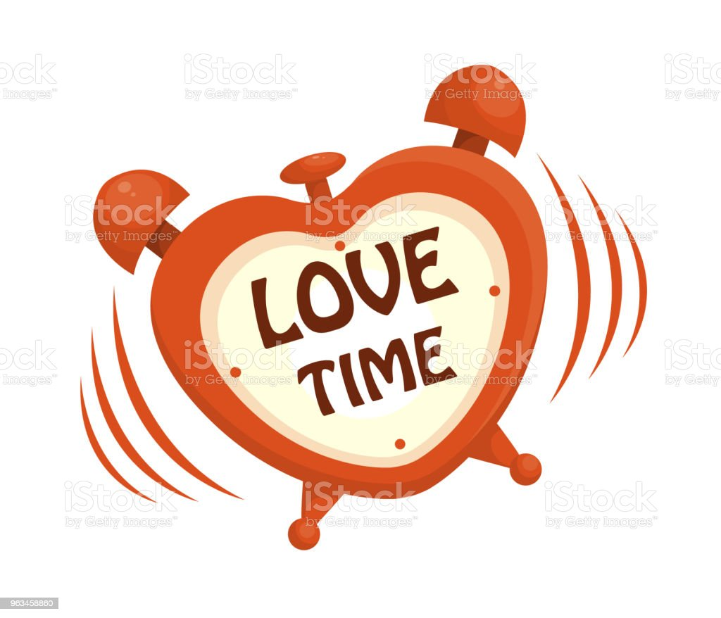 love reloj despertador - arte vectorial de Alarma libre de derechos