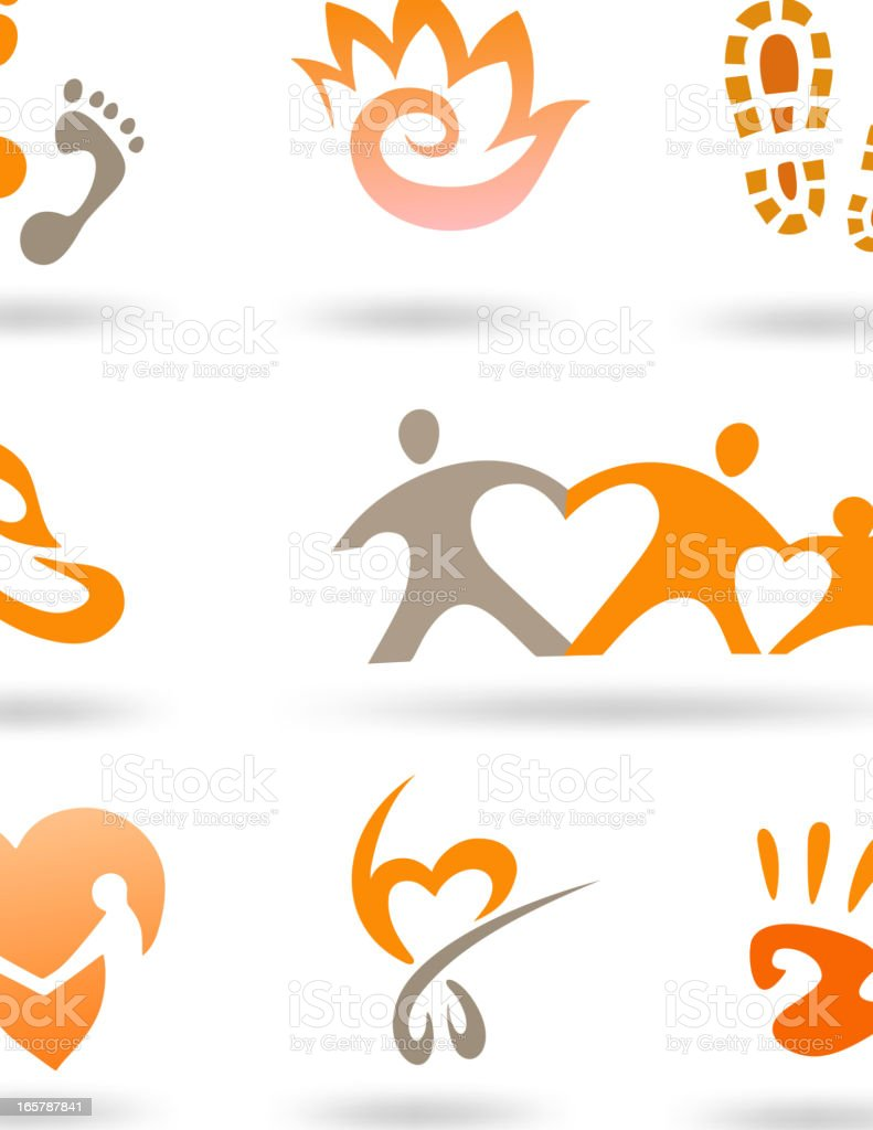 Love and Care Icon set vector art illustration