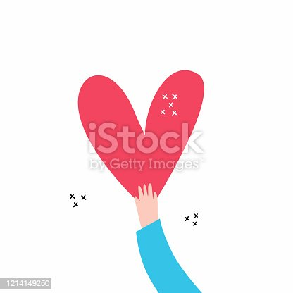 istock Love and compassion hand drawn vector illustration 1214149250