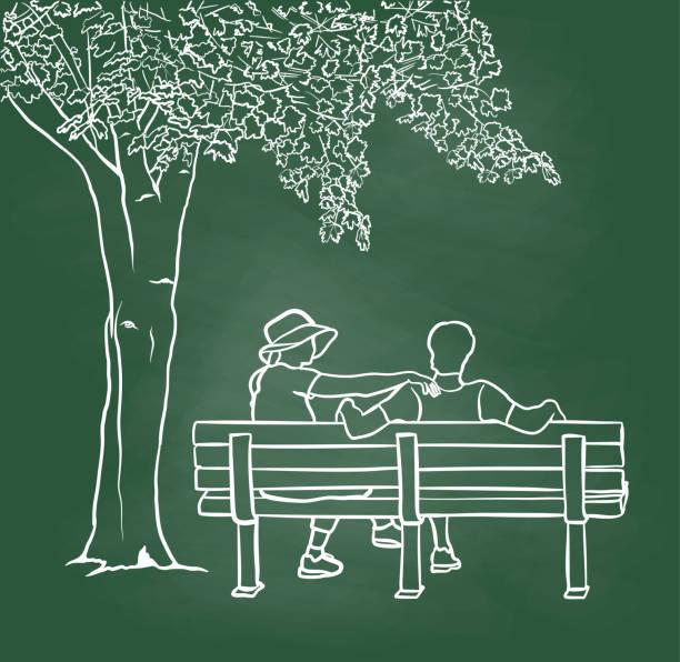 Liebe und Verständnis Tafel – Vektorgrafik