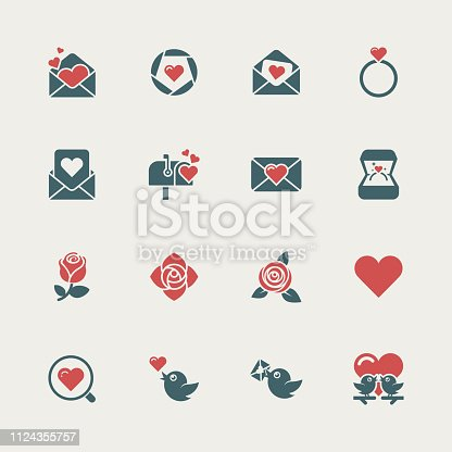 Love and Valentine's day icons,vector illustration. EPS 10.