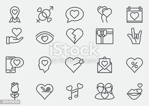 Love and Valentine's day Line Icons