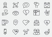 Love and Valentine's day Line Icons | EPS 10