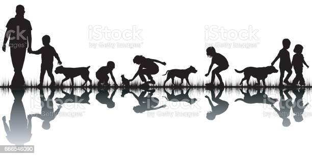Love animals concept with silhouettes of people and animals vector id666546090?b=1&k=6&m=666546090&s=612x612&h=1wkselaayy1 z6ms4sm3v0x4fjlhnadnty1t7yzj6fk=