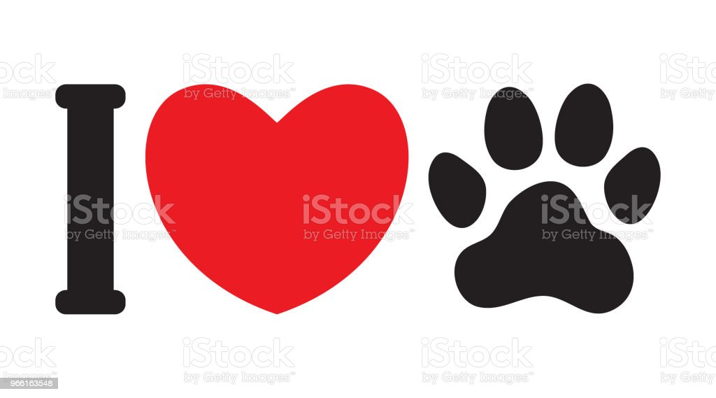 I love animals (dogs) - Royalty-free Abstract stock vector