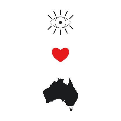 I love Australia concept.