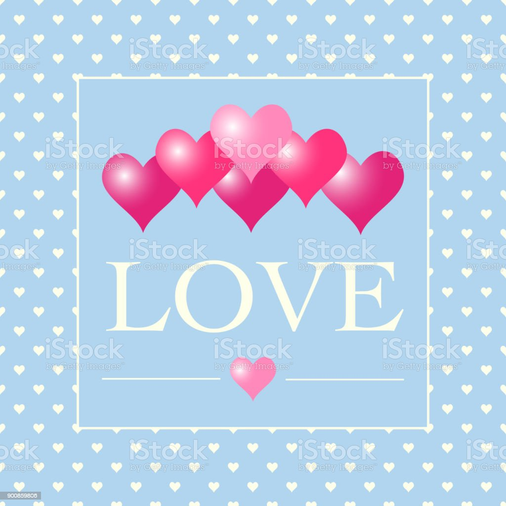Love Background Valentines Day Romantic Pink Heart Pattern Stock