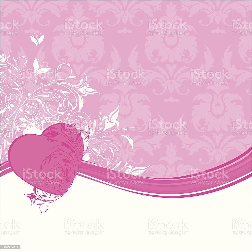 Love banner with seamless background royalty-free stock vector art