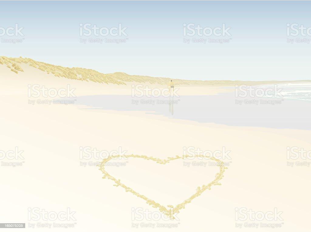 Love Beach royalty-free stock vector art