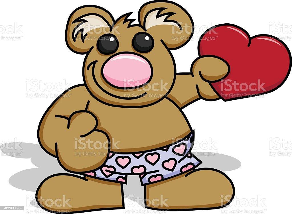 Love Bear royalty-free love bear stock vector art & more images of 2015