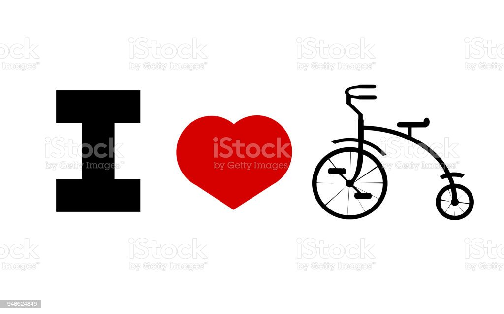 love bicycles vector art illustration