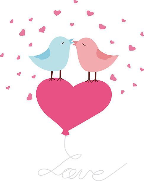 ilustrações de stock, clip art, desenhos animados e ícones de amor aves cartão de saudações - bills couple