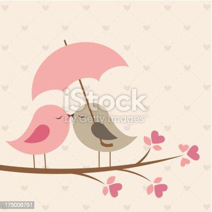 istock Love birds under umbrella 175006751