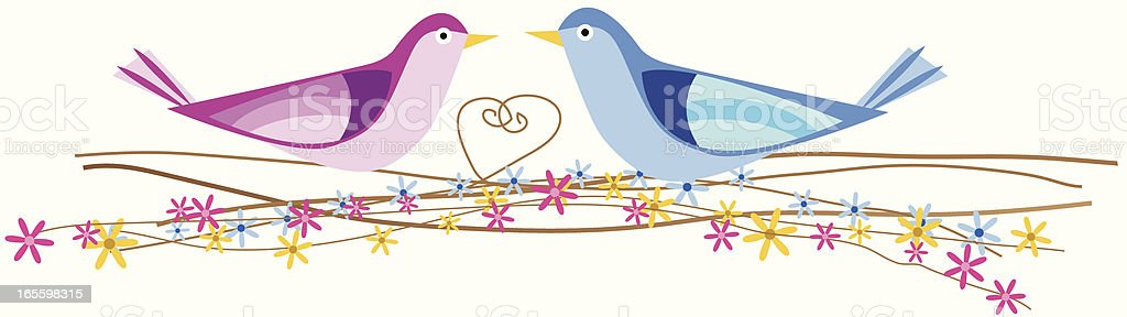 Love Birds royalty-free love birds stock vector art & more images of bonding