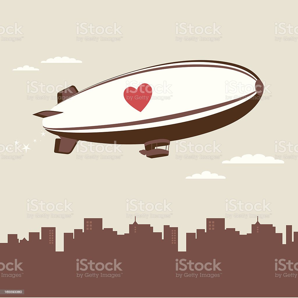 love blimp vector art illustration