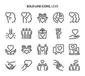 istock Love, bold line icons 1272468477