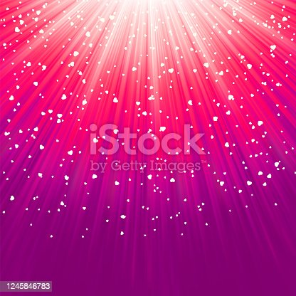 istock Love bright theme with hearts and stars. EPS 8 1245846783
