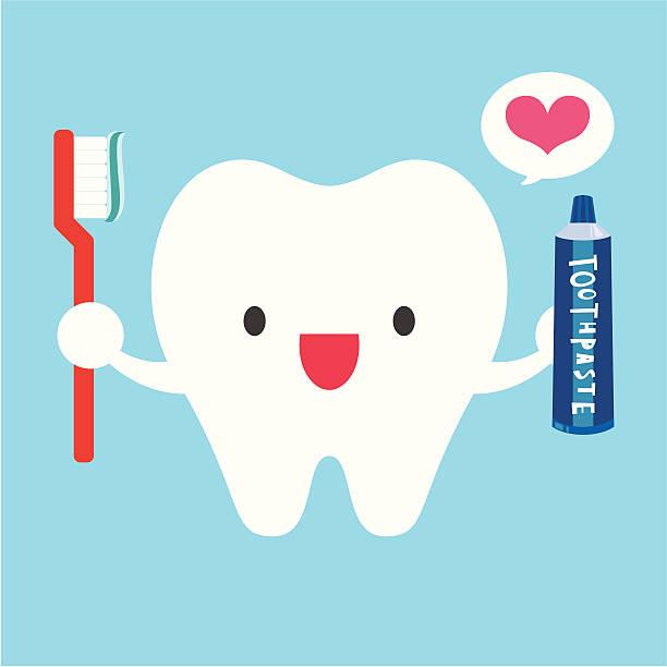 ich liebe meine zähne putzen - zähne putzen stock-grafiken, -clipart, -cartoons und -symbole