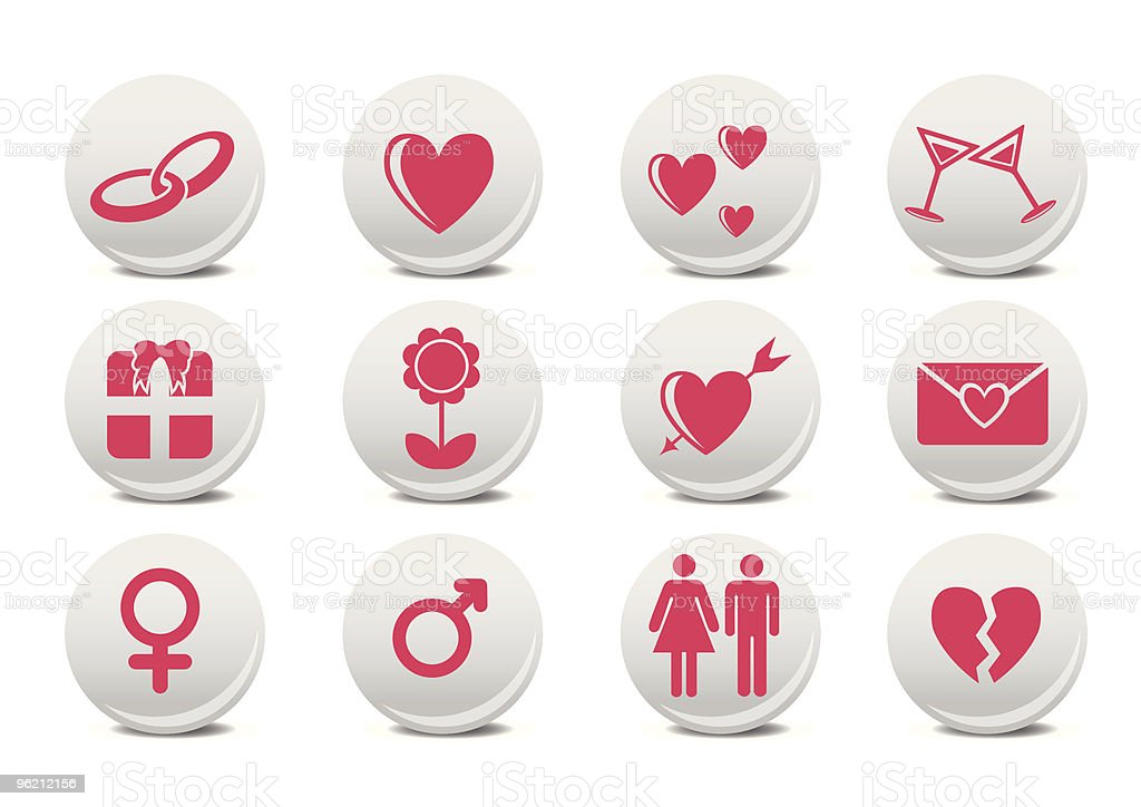 Love buttons royalty-free stock vector art