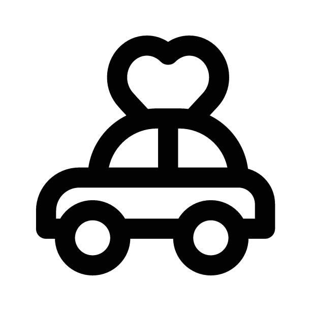 love car vehicle car love stock illustrations