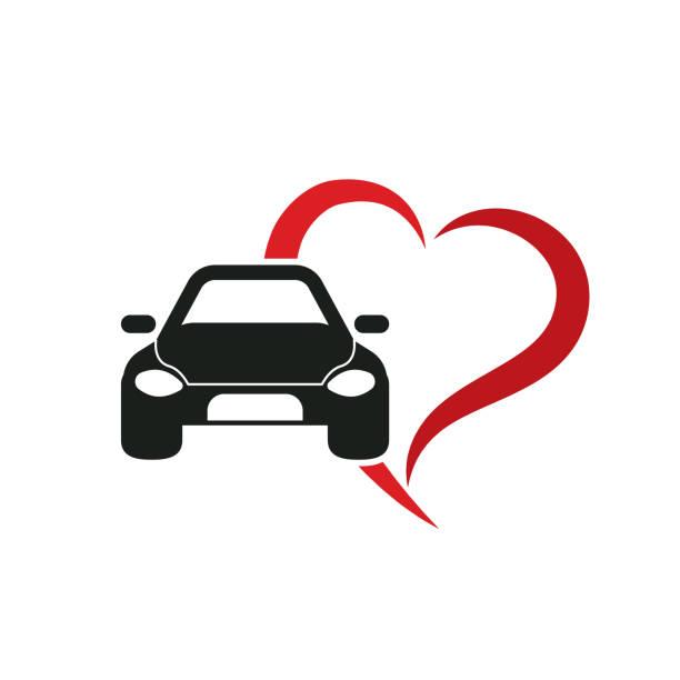 love car love car. eps 10 vector file car love stock illustrations